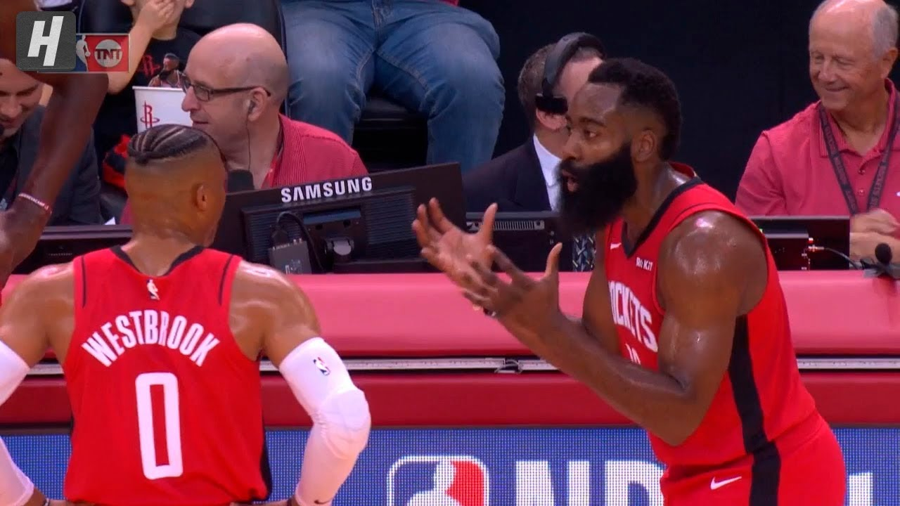 Image result for westbrook harden arguing