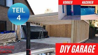 Garage bauen DIY XXL: Teil 4 / Wände in Holzständerbauweise und Dach
