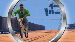 ЛАВИНА ИЗ МАШИН С ЕЗДУНАМИ НА BMX! (GTA 5 Смешные Моменты)