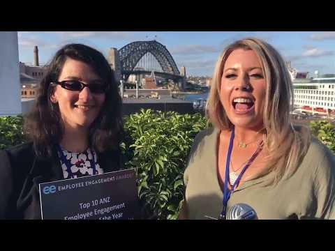 Nathalie Gevinti receives an award for clients McDonald Marine & Industrial