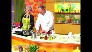 Суп-пюре из моркови, Филе семги на яблочной подушке