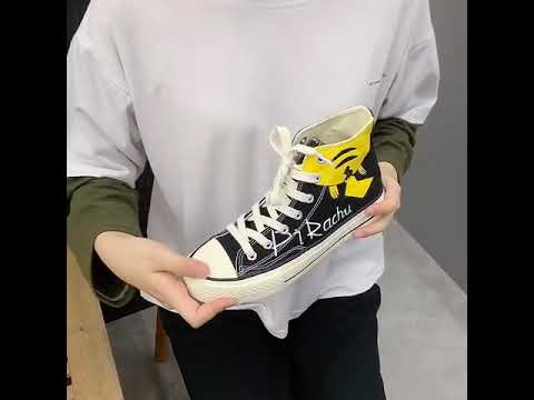 High Top Canvas Shoes Pikachu Shopee_my Store