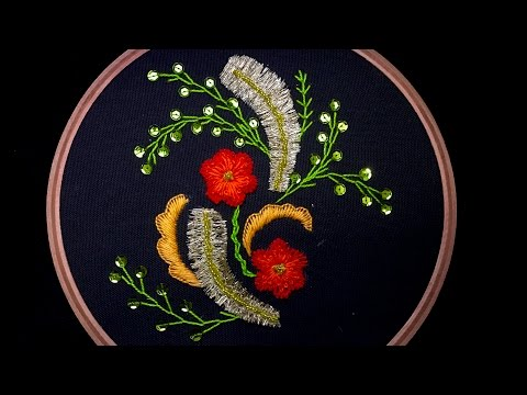 Hand Embroidery: Fancy Flower Embroidery