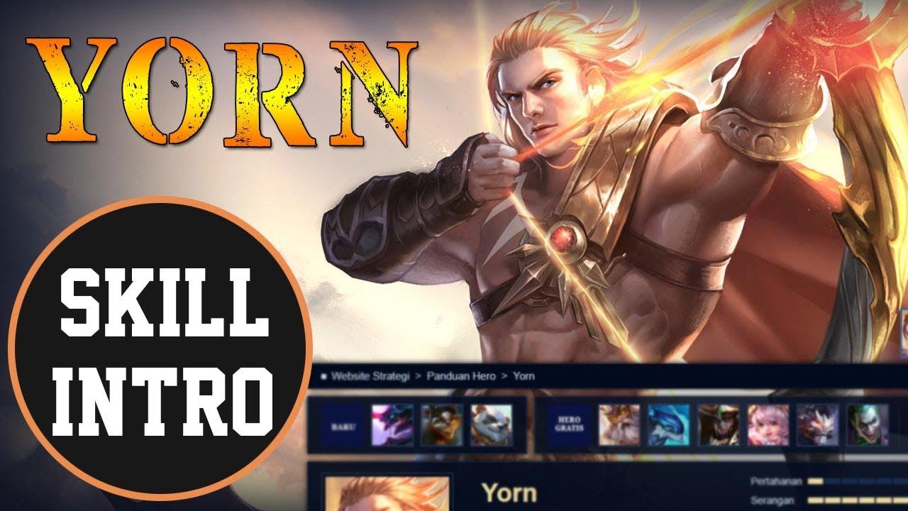 Yorn Skill Intro Aov Arena Of Valor