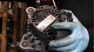 Valeo alternator repair,common problem brush change.