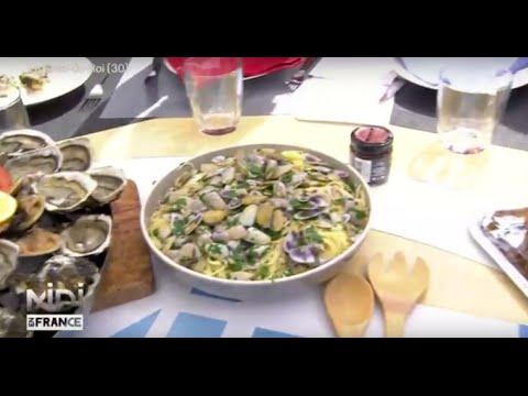 Recette Spaghettis Aux Tellines A La Languedocienne Youtube