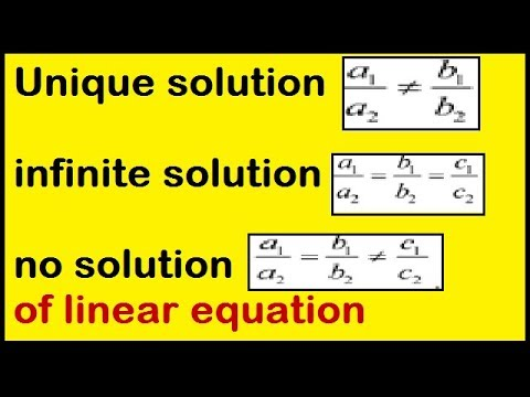 Unique solution infinite solution no solution of linear equation through ratios class 10th ncert