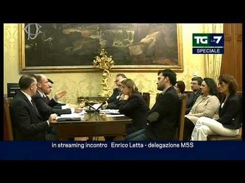 Consultazioni: l'incontro in streaming fra Enrico Letta e i rappresentanti del M5s