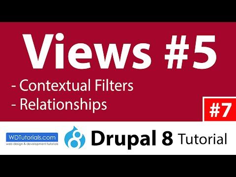 Drupal 8 - How To Use Views Contextual Filters And