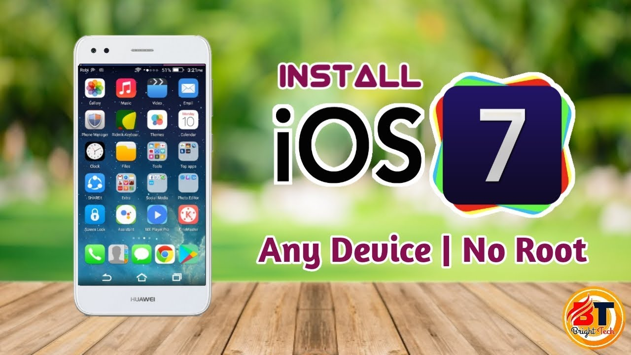 How to install iOS 7 Theme on any Huawei Phone