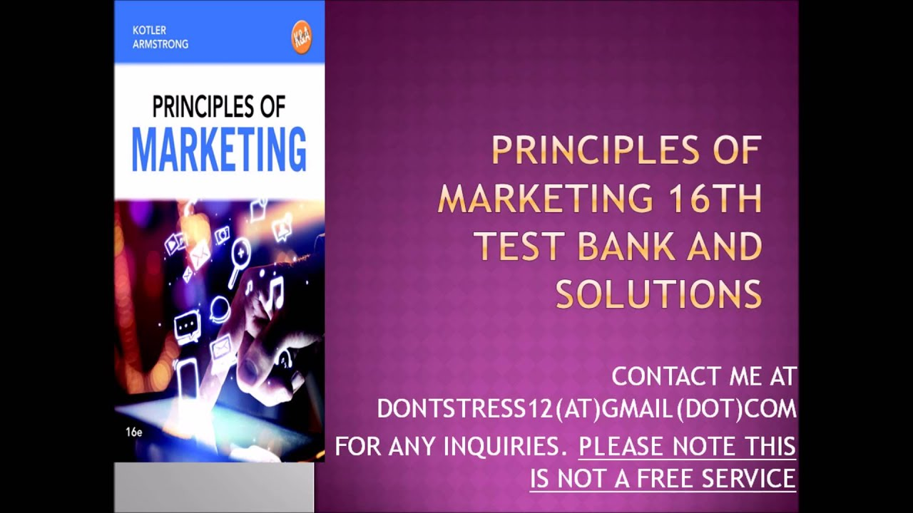 kotler principles of marketing essay