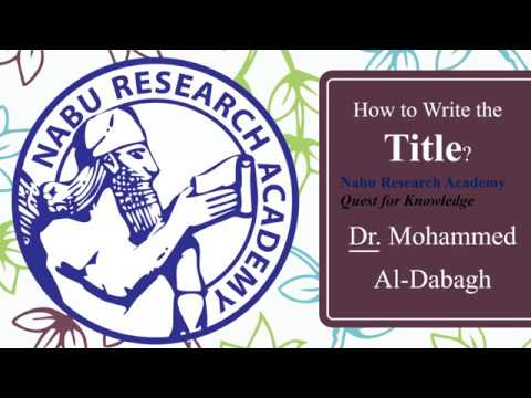 """Title, Author name, Affiliation & email: Tips """"10"""""""