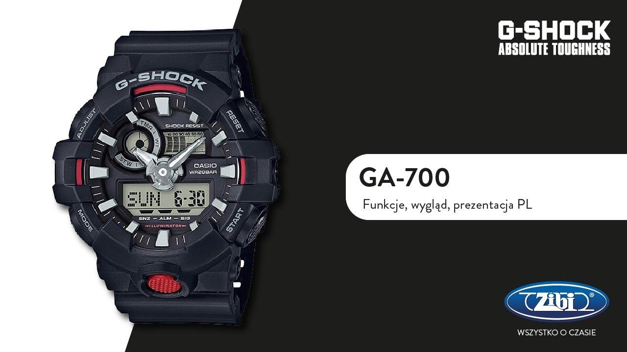 G-SHOCK GA-700 funkcje, wygląd, pierwsze wrażenie PL