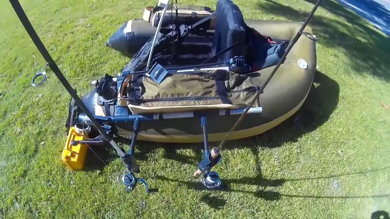 Float tube fishing setup doovi for Best fishing float tube