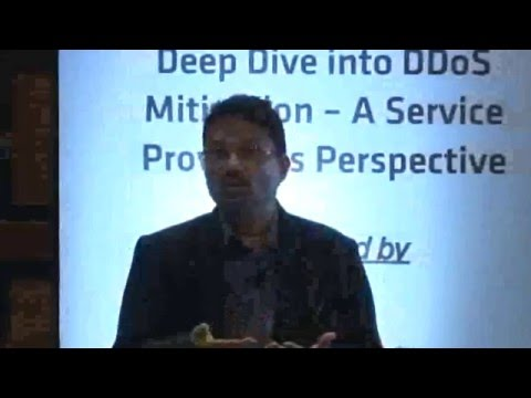 Workshop on Deep Dive into DDoS Mitigation – A Service Provider's Perspective