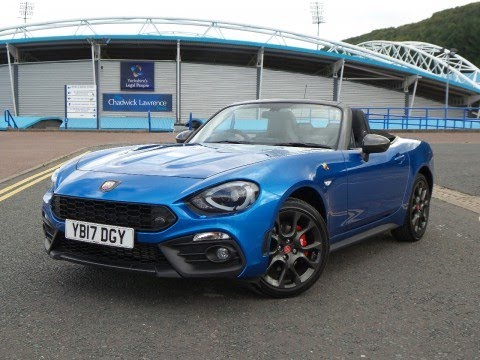 yb17dgy abarth 124 spider 1 4 turbo multiair 2dr in blue demo youtube. Black Bedroom Furniture Sets. Home Design Ideas