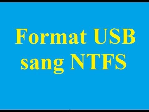 Cách cách Format USB sang định dạng NTFS nhanh chóng, an toàn - Taimienphi.vn