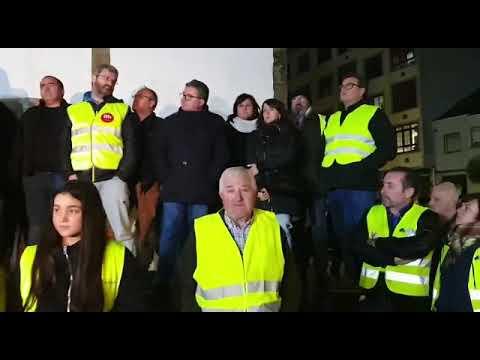 Un millar de personas reclaman en As Pontes que no se cierre de forma abrupta la central de Endesa