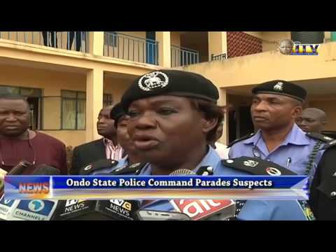 Ondo State Police Command Parades Suspects
