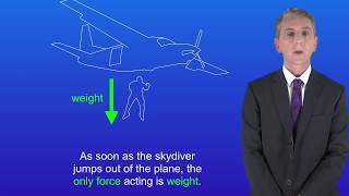 GCSE Physics (9-1 Triple) Forces Acting on a Skydiver