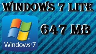 Windows 7 Lite 647 MB │ En Español