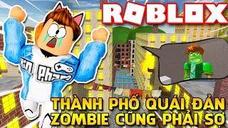 Roblox | PERSO in città anche per zombie SCARE-fuga della città | Rottura di Kia