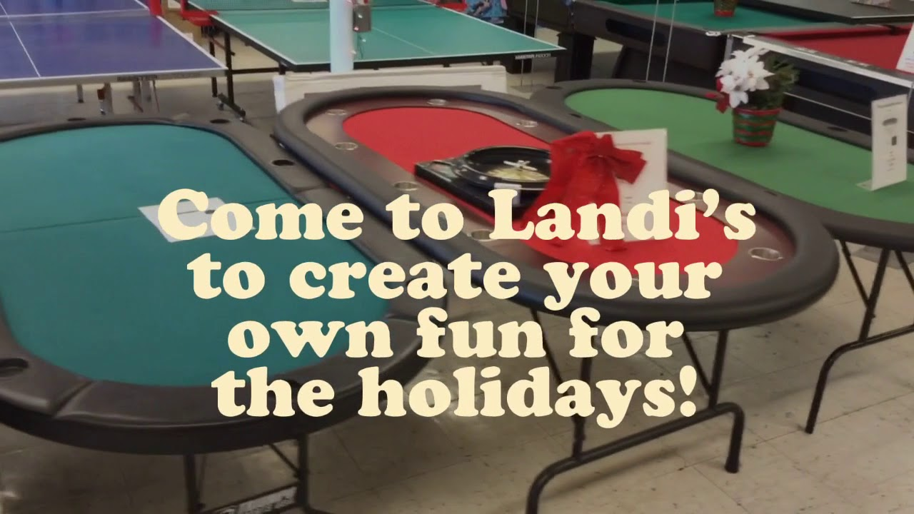 Vineland Store Pool TableGame Table Showcase YouTube - Make your own gaming table