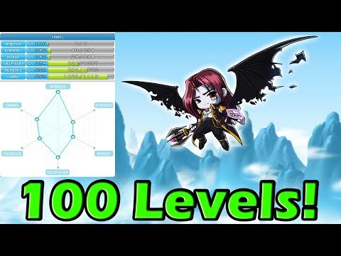 MapleStory Leveling Traits - OVER 100 LEVELS GAINED!!! WONDROID EVENT TRAIT ITEMS OP