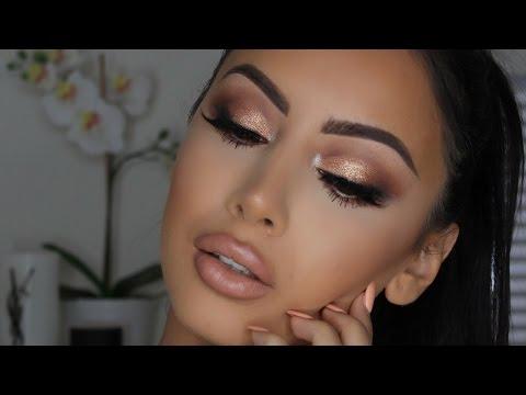Popping Gold Smokey Eye Makeup