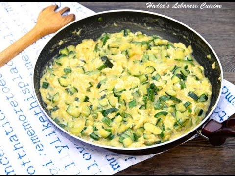 HEALTHY EATING: Lebanese style Quick and easy Zucchini and Egg Recipe!