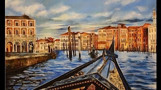 Art Videos, Painting a Gondola Ride in Venice Italy