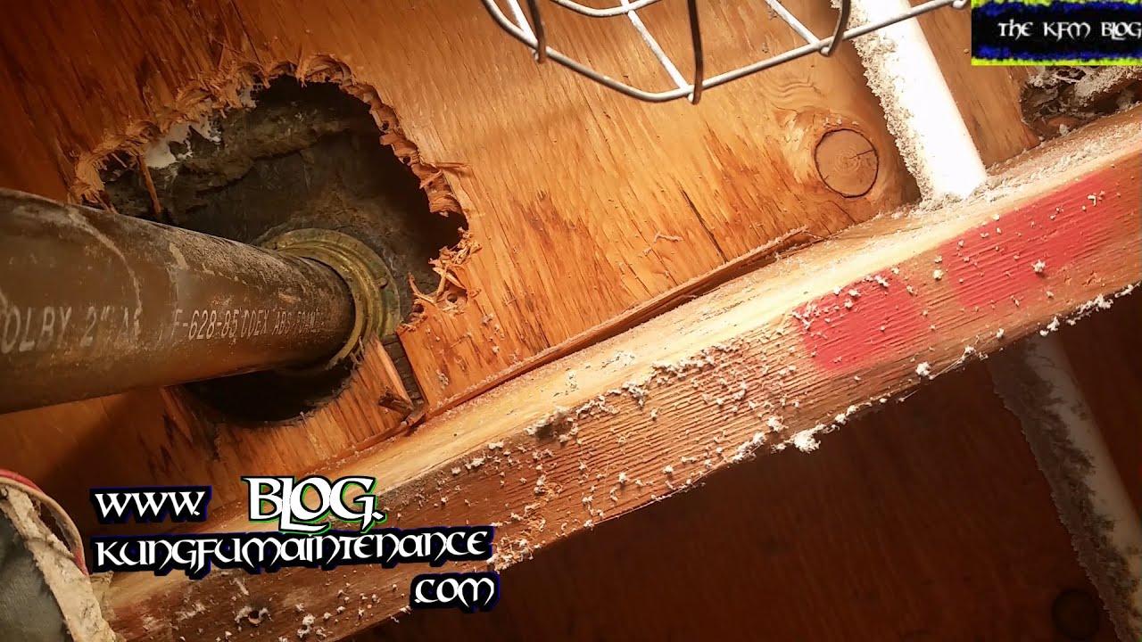 Stuck Shower Sink Drain Basket Spanner Nut Drill Method