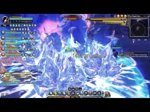 Dragon Nest INA - Ice Dragon Nest Hardcore 6 Man Title Elestra / Cryomancer lv93 PoV part 1
