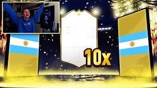 MY BEST EVER ICON!!! 10X MID ICON PACKS - FIFA 19 Ultimate Team