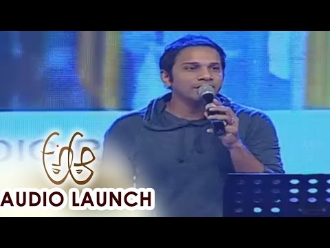 yellipomake song perf A Aa Audio Launch LIVE || Nithiin, Samantha, Trivikram, Mickey J Meyer
