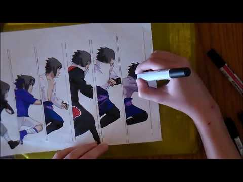 SPEED DRAWING : Sasuke Uchiha 【Naruto】