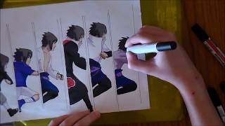 SPEED DRAWING : Sasuke Uchiha 【Naruto】