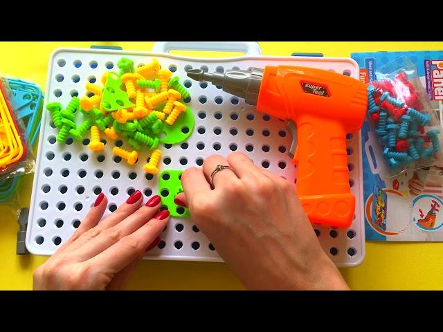Creative mosaic  –  Конструктор-мозаика с шуруповертом