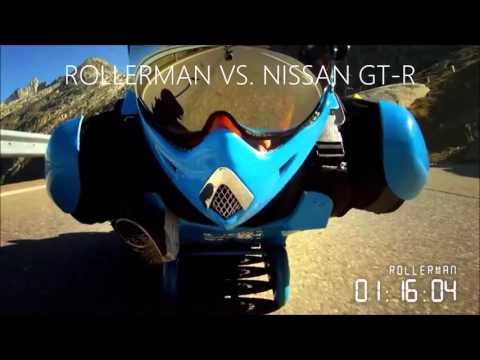 Rollerman vs Nissan GTR