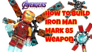 Wie baut man Lego Iron Man Waffen aus Avengers Endgame-Final Battle (Iron Man Mark 85 Waffe)