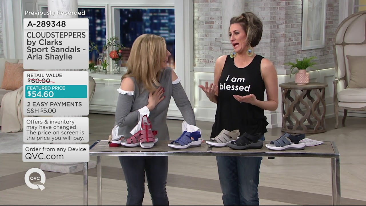 f9c459116e6 CLOUDSTEPPERS by Clarks Sport Sandals - Arla Shaylie on QVC - YouTube