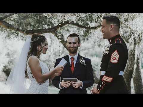 This Grooms Reaction Will Make You Cry | Military Wedding | Miranda + Sean