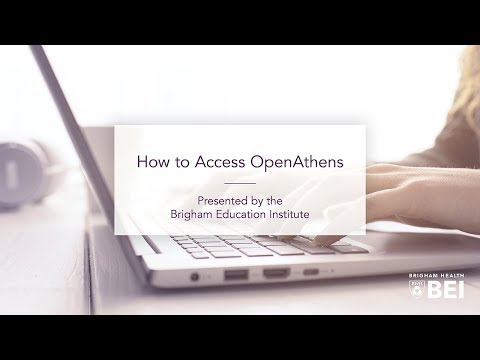 "Medical Library ""How To"" Series: How to Access OpenAthens on YouTube"