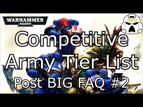 Competitive Army Tier List - Post BIG FAQ #2