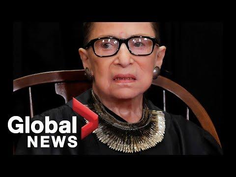 U.S. Supreme Court Justice Ruth Bader Ginsburg delivers remarks at naturalization ceremony