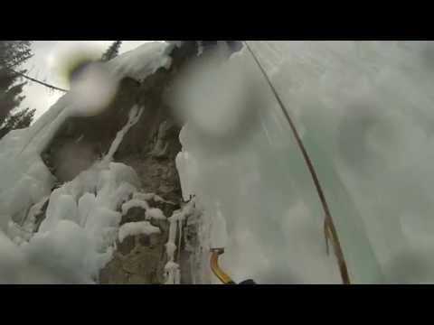 A day of Waterfall Ice Climbing in Johnston Canyon, Banff National Park