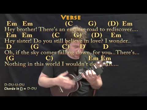 Hey Brother (Avicii) Ukulele Cover Lesson In Em With Chords/Lyrics