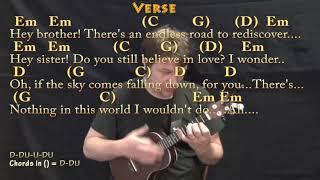 Hey Brother Avicii Ukulele Cover Lesson In Em With Chords Lyrics