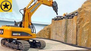 BRUDER Toys RC EXCAVATOR For KIDs ♦ Meissel - Bagger RC HUINA Chisel Demolition