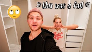 WE GOT A CUSTOM IKEA CLOSET (extreme fail...)